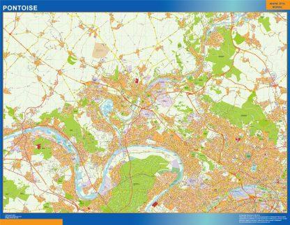 Biggest Map of Pontoise France
