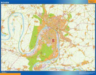 Biggest Map of Rouen France