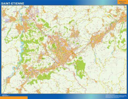 Biggest Map of Saint Etienne France