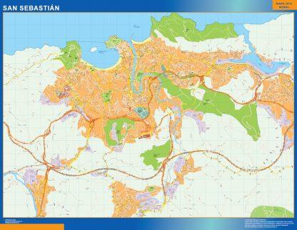 Biggest Map of San Sebastian Spain