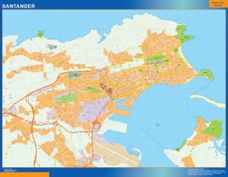 Biggest Map of Santander Spain
