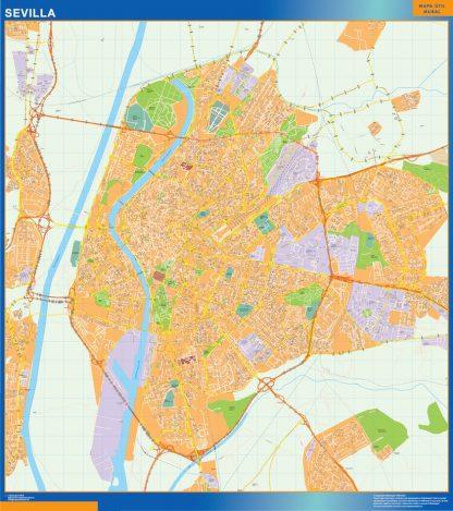 Biggest Map of Sevilla Spain