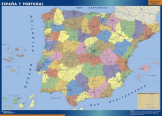 Biggest Map of Spain Provincial
