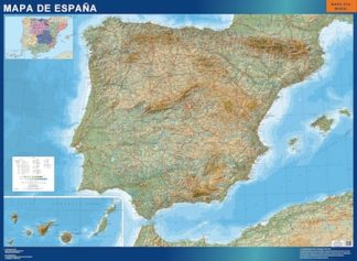 Biggest Map of Spain Relief