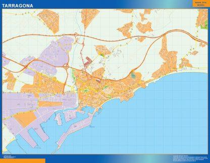 Biggest Map of Tarragona Spain