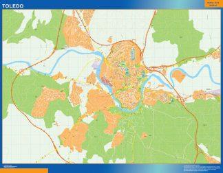 Biggest Map of Toledo Spain