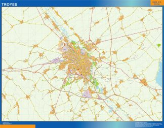 Biggest Map of Troyes France