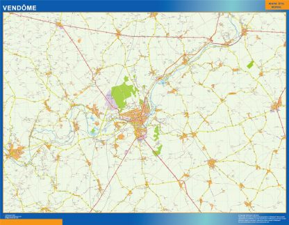 Biggest Map of Vendome France