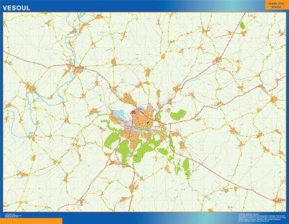Biggest Map of Vesoul France