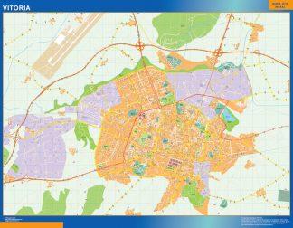 Biggest Map of Vitoria Spain