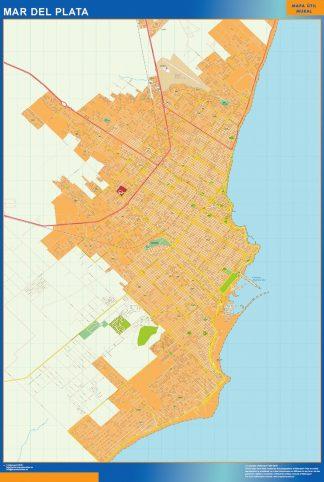 Biggest Mar del Plata map in Argentina
