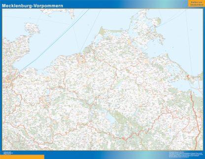 Biggest Mecklenburg-Vorpommern map