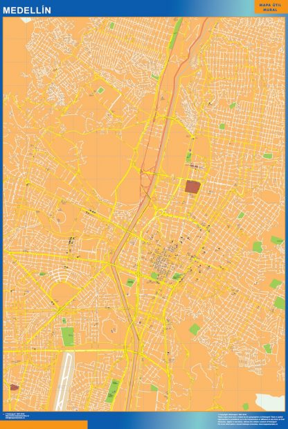 Biggest Medellin map in Colombia