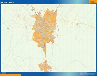 Biggest Monclova map Mexico