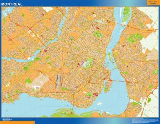 Biggest Montreal wall map