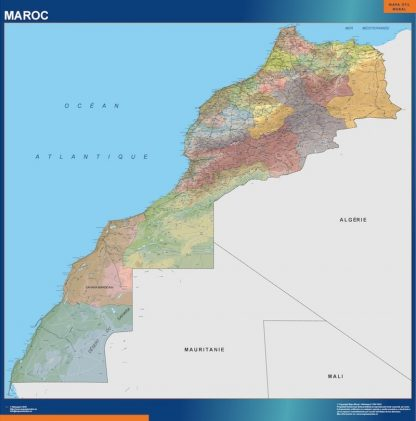Biggest Morocco map