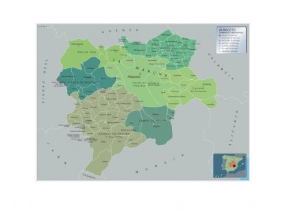 Biggest Municipalities Albacete map from Spain