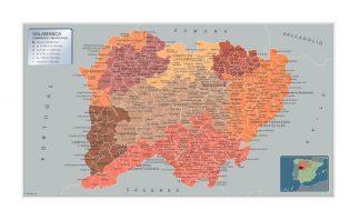 Biggest Municipalities Salamanca map from Spain