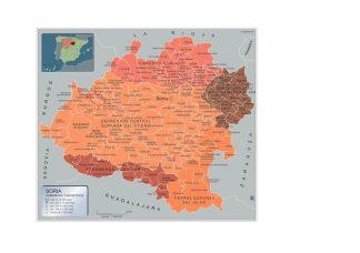 Biggest Municipalities Soria map from Spain