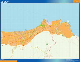 Biggest Muscat laminated map