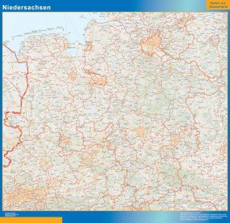 Biggest Niedersachsen map