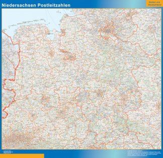 Biggest Niedersachsen zip codes map