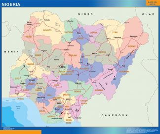 Biggest Nigeria map