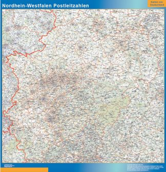 Biggest Nordrhein-Westfalen zip codes map