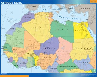 Biggest North africa wall map