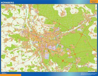 Biggest Nurnberg map in Germany