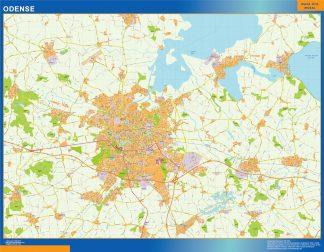 Biggest Odense map Denmark