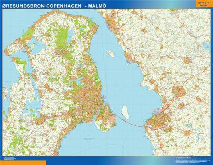 Biggest Oresundsbron map Denmark