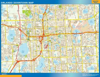 Biggest Orlando downtown map