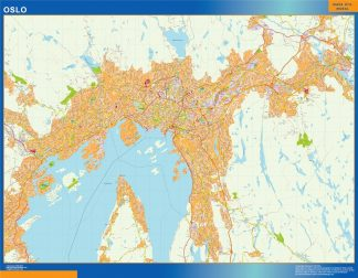 Biggest Oslo map in Norway