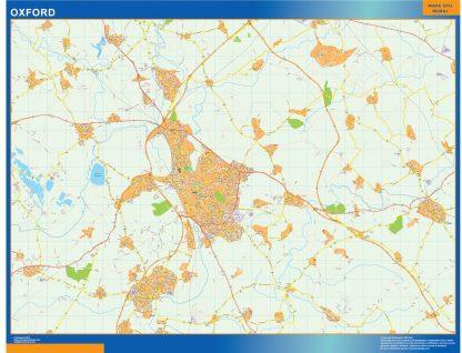 Biggest Oxford laminated map