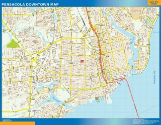 Biggest Pensacola downtown map