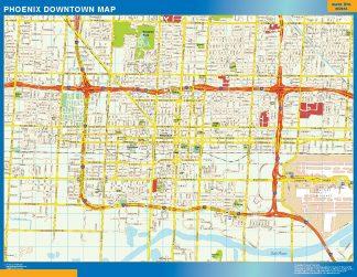 Biggest Phoenix downtown map