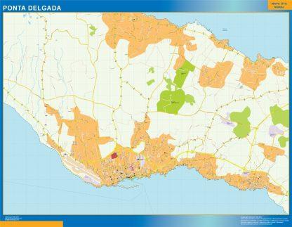 Biggest Ponta Delgada map