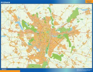Biggest Poznan map Poland