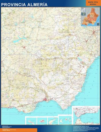 Biggest Province Almeria map from Spain