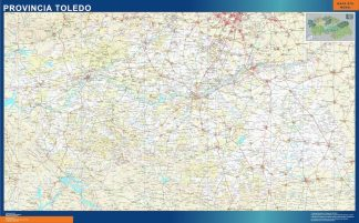 Biggest Province Toledo map from Spain
