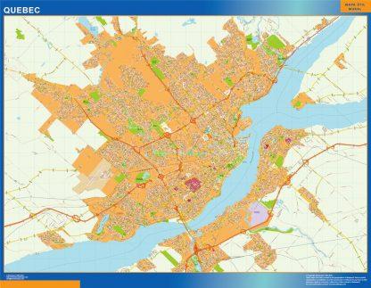 Biggest Quebec wall map