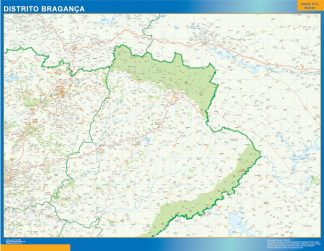 Biggest Region of Braganc?a map in Portugal