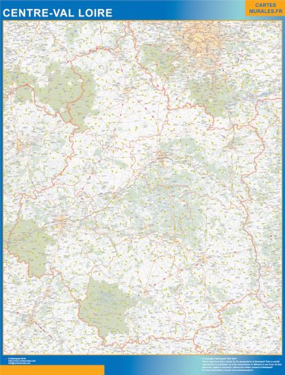 Biggest Region of Centre Val Loire map