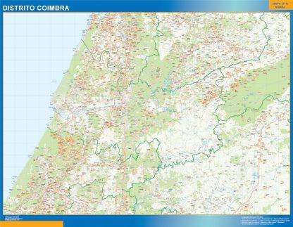 Biggest Region of Coimbra map in Portugal