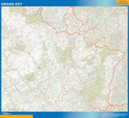 Biggest Region of Grand Est map