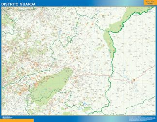 Biggest Region of Guarda map in Portugal