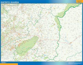 Biggest Region of Guarda map in Portugal
