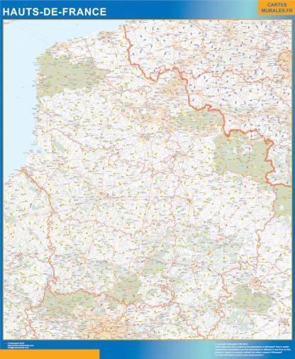 Biggest Region of Hauts de France map