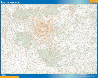 Biggest Region of Ile de France map